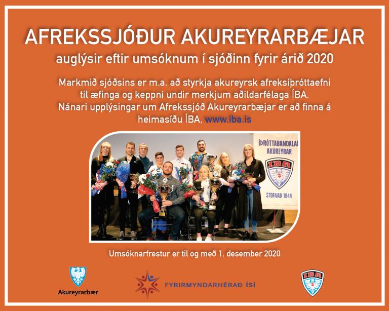 Afrekssjóður Akureyrarbæjar 2020